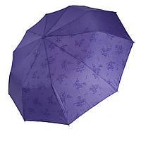 """Жіночий парасольку-напівавтомат на 10 спиць Bellisimo """"Flower land"""", проявлення, бузковий колір, 461-7, фото 1"""