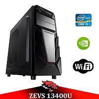 Супер современный ПК ZEVS PC 13400U i5 9400-F +GTX 1060 6GB +16GB DDR4 + Игровая клавиатура
