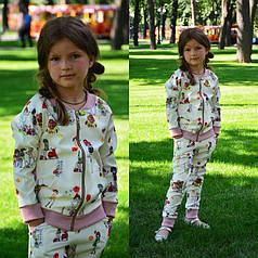 Детский спортивный костюм с летним прином