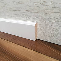 """Колониал"" 60х16 мм, Плинтус белый деревянный"