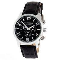 Часы наручные Montblanc TimeWalker Automatic Black-Silver-Black (Реплика АА)