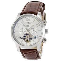Часы наручные Montblanc TimeWalker Tourbillon Brown-Silver (Реплика АА)