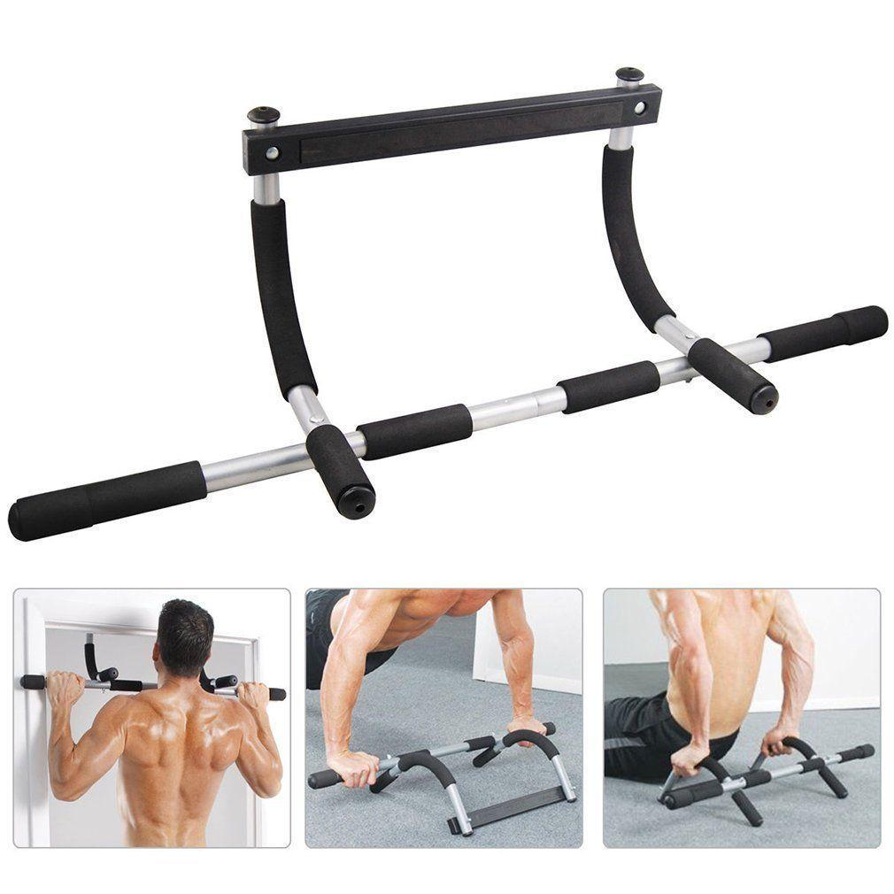 Турник Iron Gym брусья Айрон Джим тренажер в дверной проём для дома силовые тренировки 12 упражнений до 90 кг