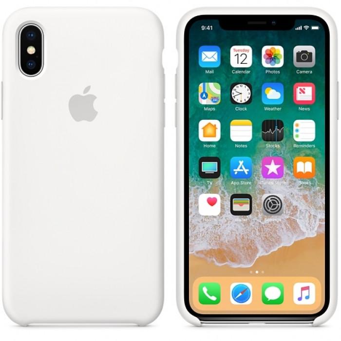 """Чехол - Silicon Case для iPhone """"White - №9"""" - copy orig."""