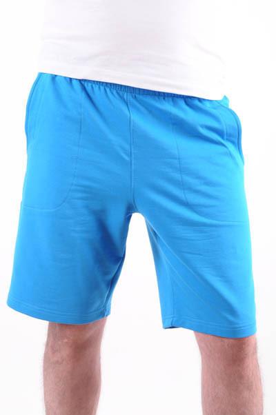 Шорты мужские трикотажные голубые размеры 48-52