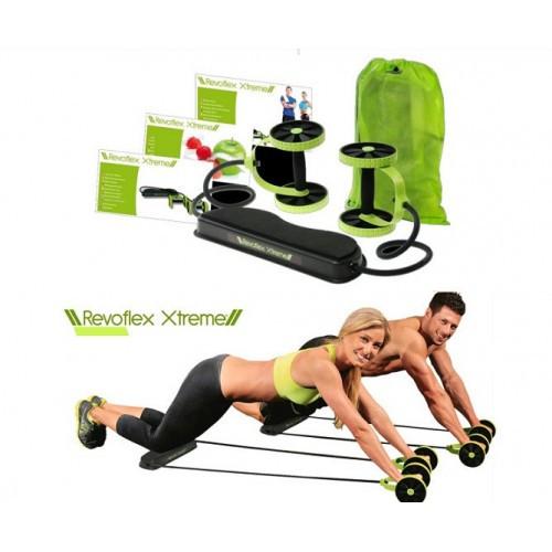 Тренажер Revoflex Xtreme с 6-ю уровнями тренировки 44 силовые упражнения для дома Ревофлекс Экстрим зеленый