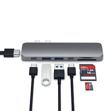 Satechi Aluminum Type-C Pro Hub Adapter Space Grey (ST-CMBPM), фото 2