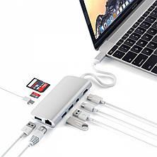 Satechi Aluminum Type-C Multimedia Adapter Silver (ST-TCMM8PAS), фото 2