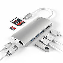 Satechi Type-C Multi-Port Adapter 4K with Ethernet V2 Silver (ST-TCMA2S), фото 2