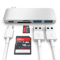 Satechi Type-C USB 3.0 Passthrough Hub Silver (ST-TCUPS), фото 2