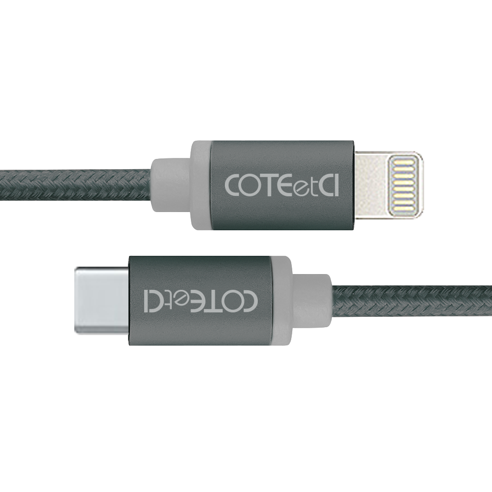 Кабель Coteetci M38 Type-C to Lightning 1.2m black (CS2151-BK) EAN/UPC: 6923869239319