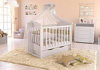 Детская кроватка Angelo Lux- 4 (цвет белый)