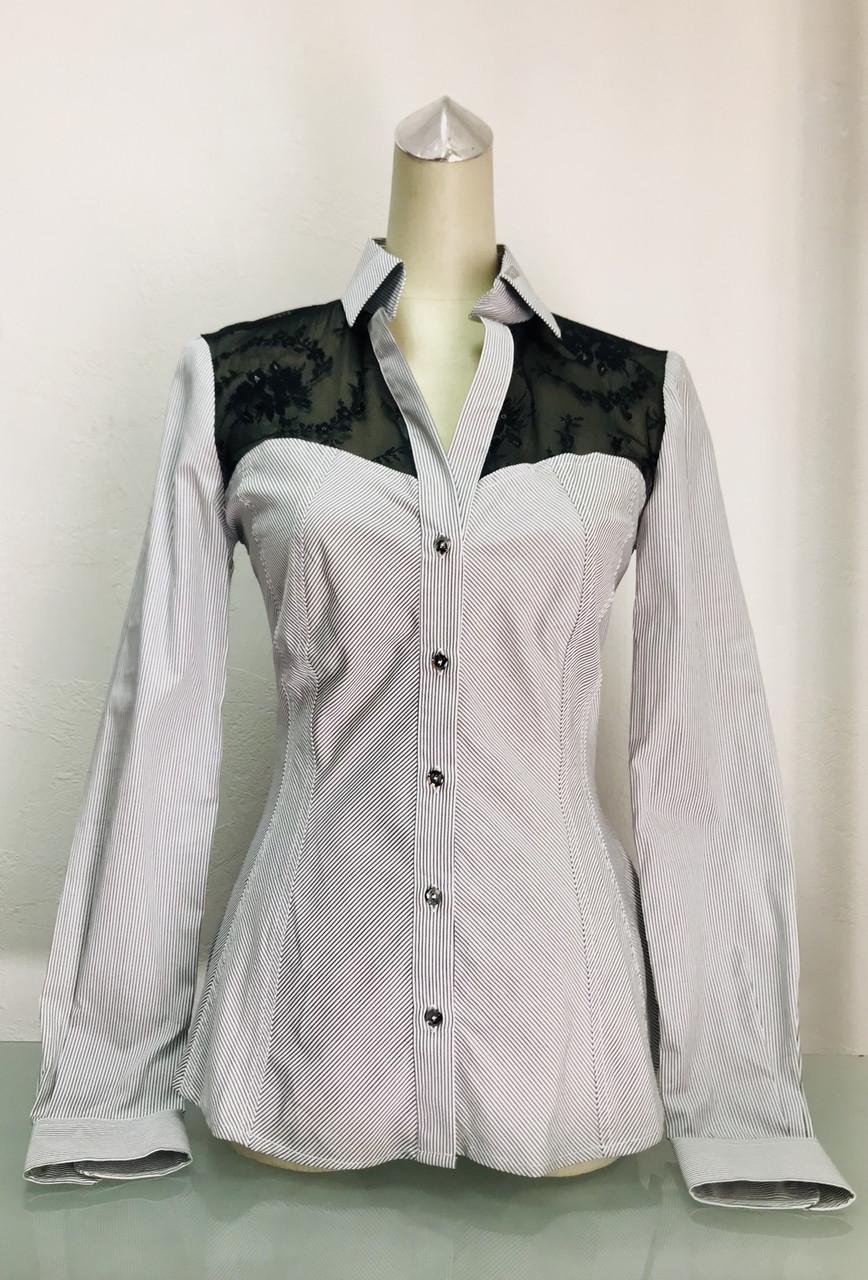 Блуза рубашка Societa женская в полоску