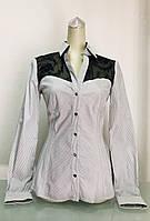 Блуза рубашка Societa женская в полоску, фото 1