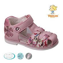 Босоножки розовые на липучках девочке Том.м размер 20,21,22,23,24,25