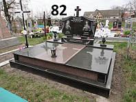 Подвійний пам'ятник комплекс із граніту на двох осіб на цвинтар