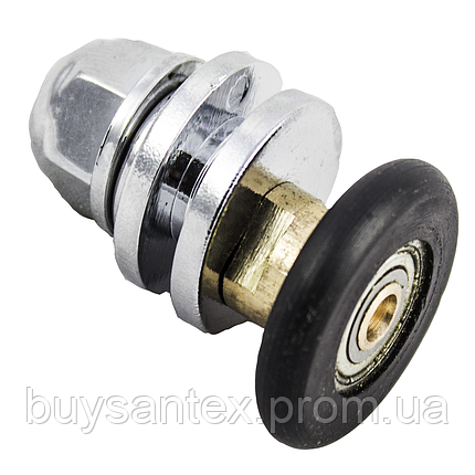 Ролик душевых кабин, гидробоков - металлический, эксцентриковый, латунный (CKLA010), фото 2