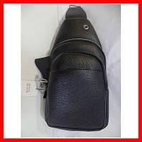 Мужская сумка через плечо бананка 3603 черная