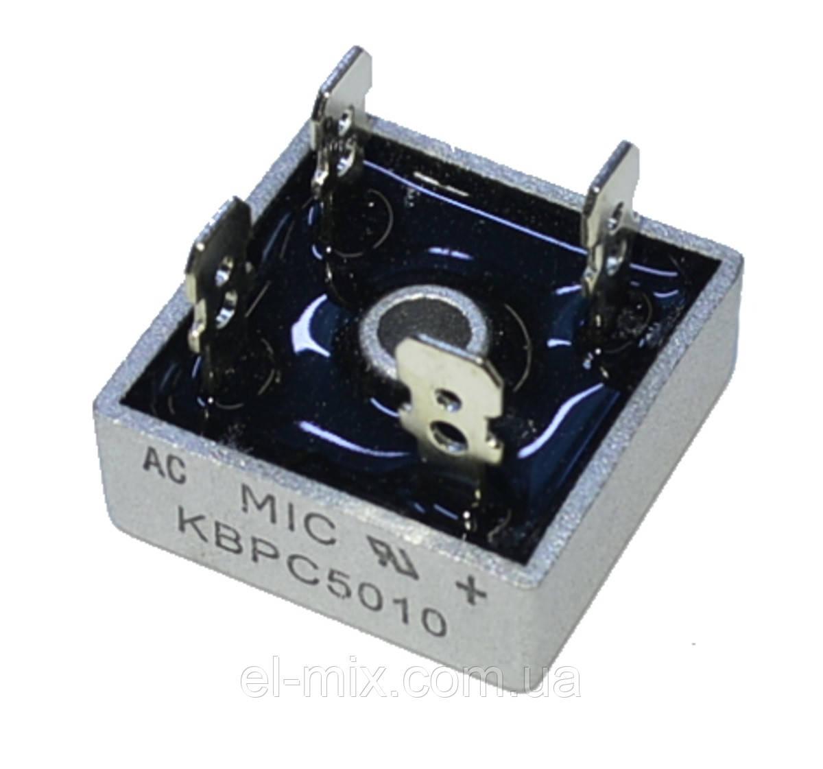 Діодний міст горизонтальний 50A 1000V KBPC5010 MIC