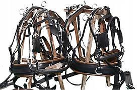 Упряж шкіряна для 2-х коней