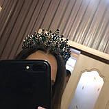 Зелена з чорним діадема (7см), фото 5