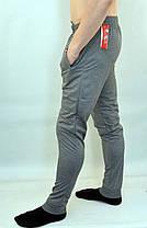 Брюки спортивные мужские трикотажные под манжет с молниями на карманах, фото 2