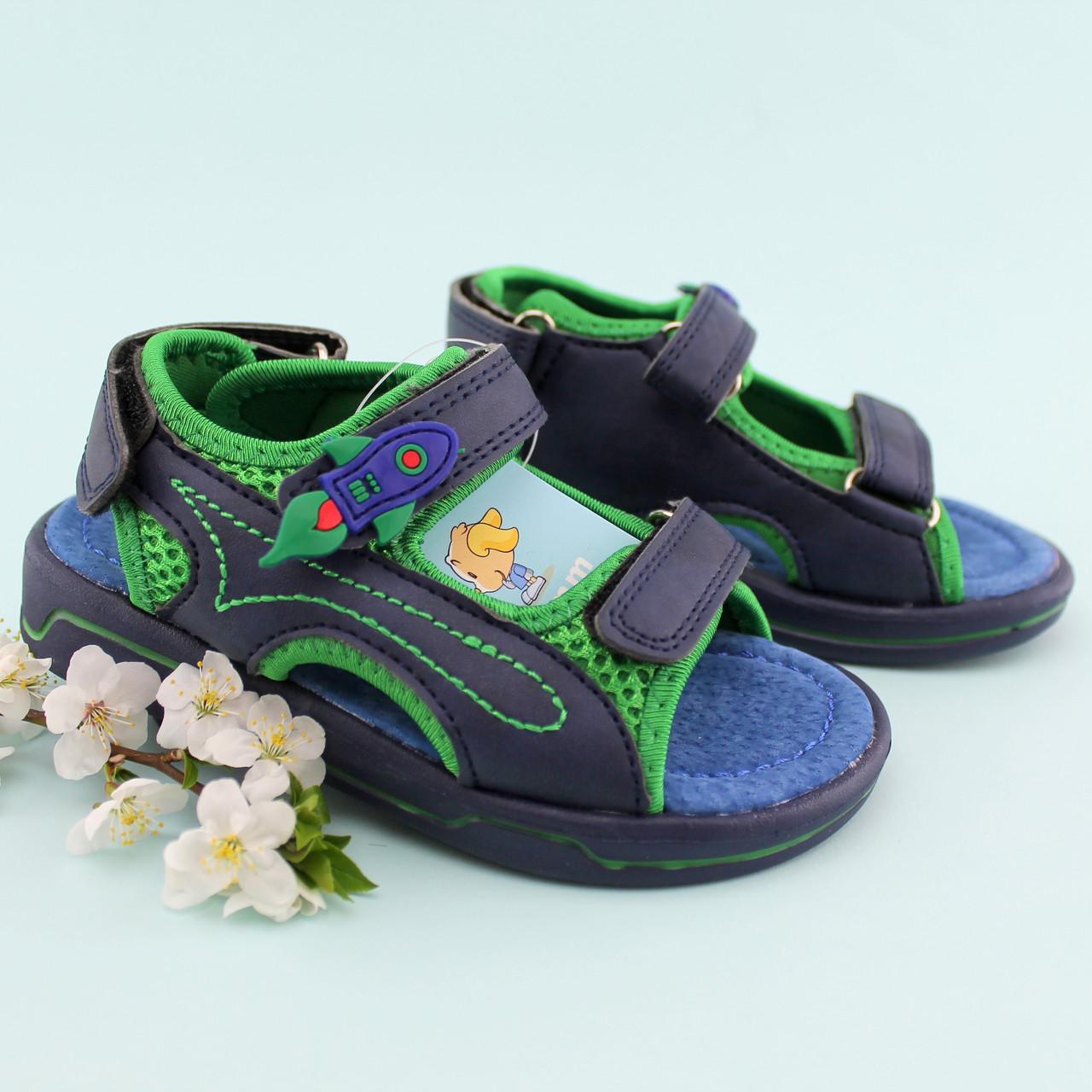 Босоножки сандалии спортивные мальчику  три липучки Том.м размер 20,21