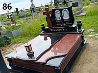 Подвійний пам'ятник комплект на двох осіб із граніту на цвинтар.