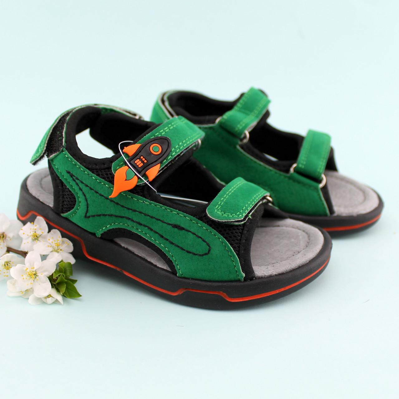 bb6191c12 Купить Босоножки мальчику спортивные Зеленые Том.м размер 20,21 в ...