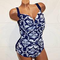 Красивая модель слитного купальника формирующего фигуру для пышных женщин. Размер 6XL (58)