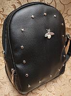 Рюкзак женский черный, рюкзак женский небольшой, рюкзак жіночий чорний