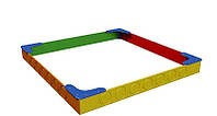 Песочница «Радуга» 2,5х2,5х0,32