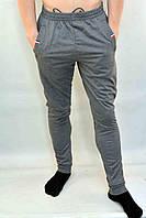 Брюки спортивные мужские трикотажные под манжет с молниями на карманах 5XL, Серый