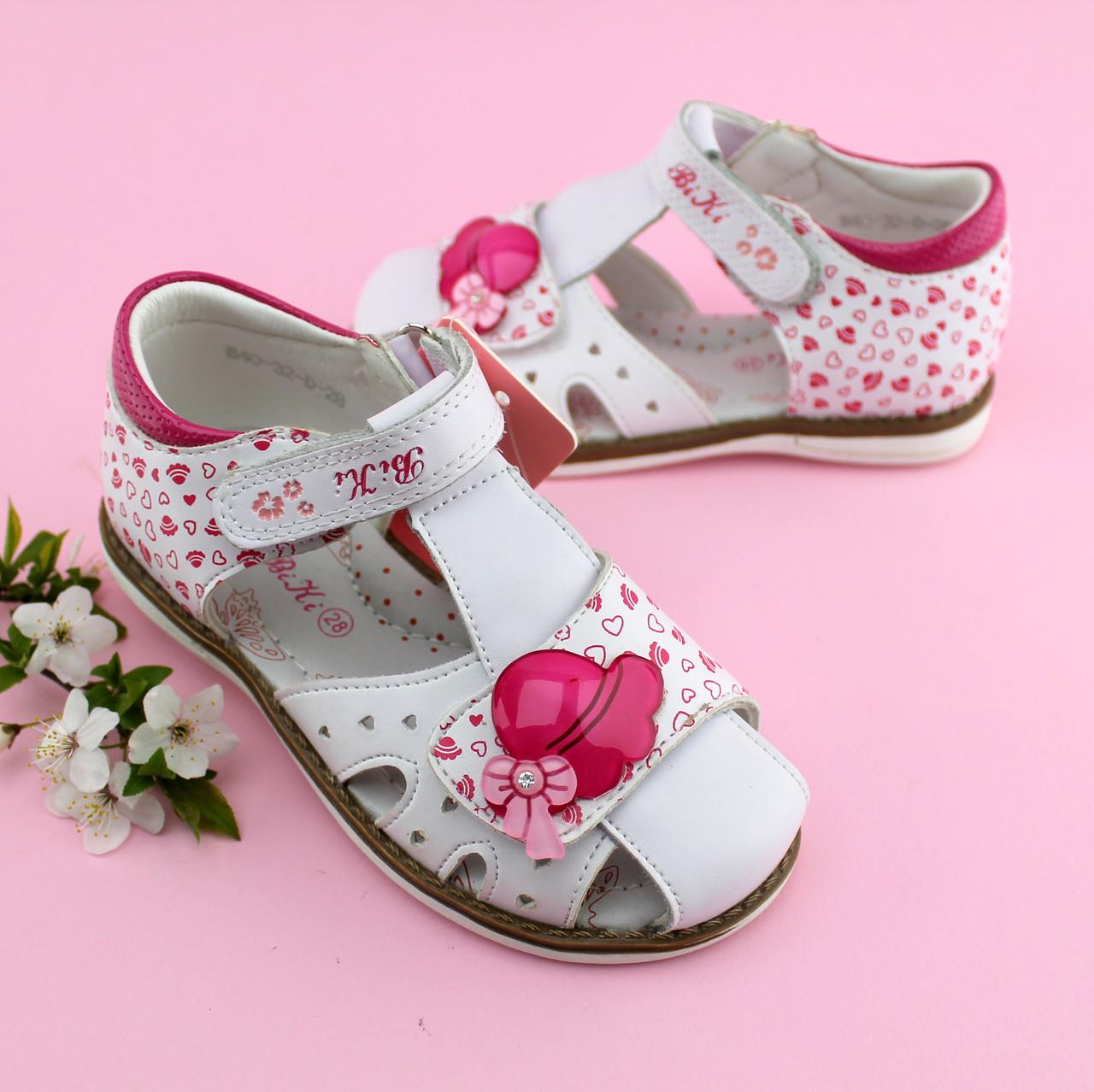 4cdceec0 Купить Босоножки на девочку Белые с розовым Bi&Ki размер 27,32 в ...