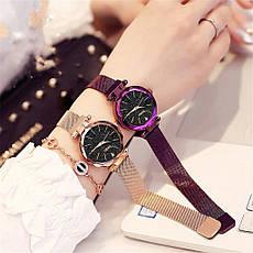 """Жіночі наручні годинники на магнітній застібці """"Meibo"""" (фіолетовий ремінець), фото 2"""