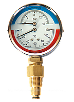 Термоманометр 0-16бар/0-120*С МТ-80 с обратным клапаном