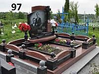 Сімейний пам'ятник на могилу з огорожею комплекс із граніту