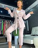 Костюм с пиджаком пудровый, фото 3