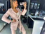 Костюм с пиджаком пудровый, фото 2
