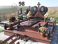 Сімейний комплекс із граніту для двох на кладовище у вигляді серця