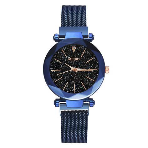 """Женские наручные часы на магнитной застежке """"Meibo"""" (синий ремешок), фото 2"""