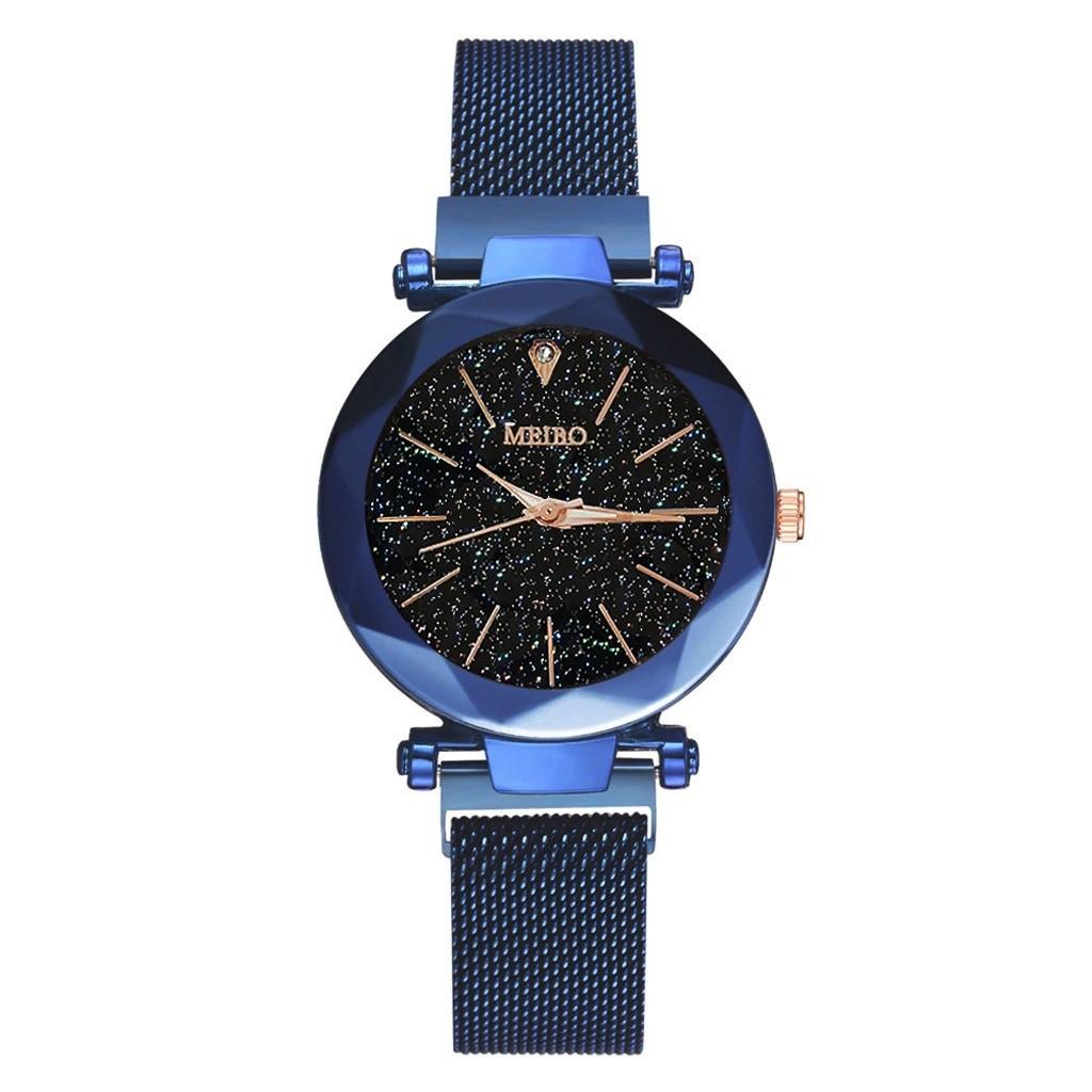 """Женские наручные часы на магнитной застежке """"Meibo"""" (синий ремешок)"""