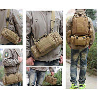 Рюкзак тактический с подсумками 55л Олива, черный, койот, фото 1