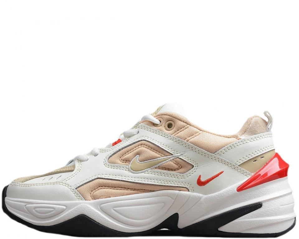 "Кроссовки женские M2K текно белые розовые демисезонные кожа (реплика) Nike M2K Tekno ""White/Peach"""