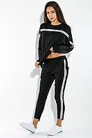 Костюм женский (толстовка, штаны) 72PD231 (Черный)
