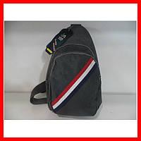 Мужская сумка через плечо бананка 0518 синяя, фото 1
