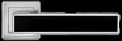 Ручка A-2015 MC+BLACK Матовий хром з чорною вставкою