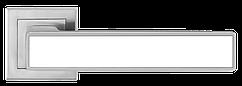 Ручка A-2015 MC+WHITE Матовий хром з білою вставкою