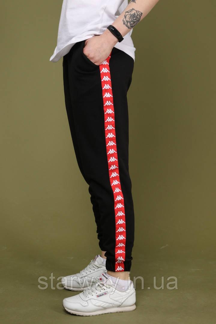 Трикотажні спортивні штани з лампасами Kappa топ   турецький трикотаж