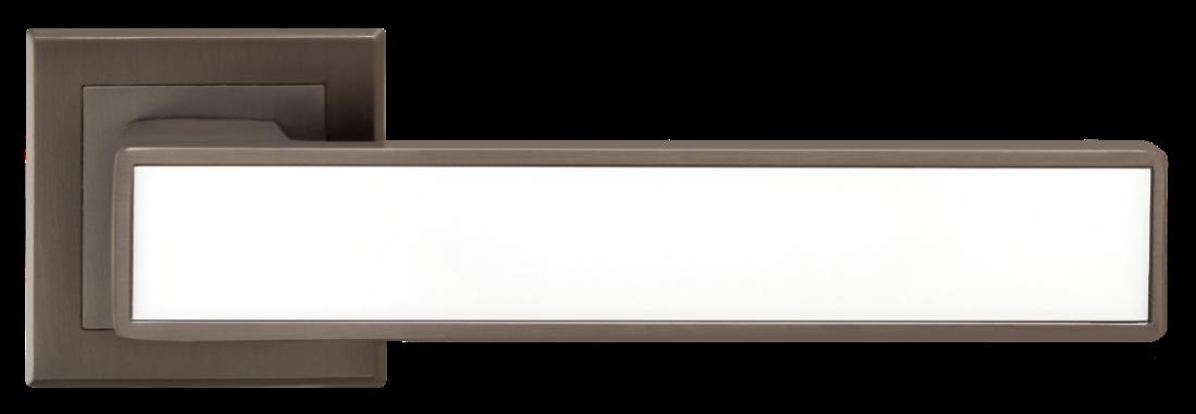 Ручка A-2015 MA+WHITE  Матовый антрацит с белой вставкой
